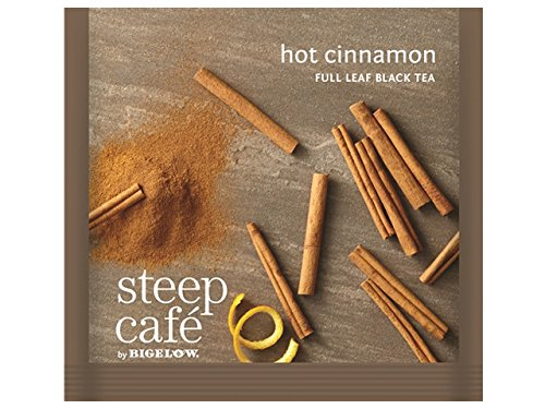 (Steep Cafe Hot Cinnamon Black Tea Bags by Bigelow, 50 Count Box)