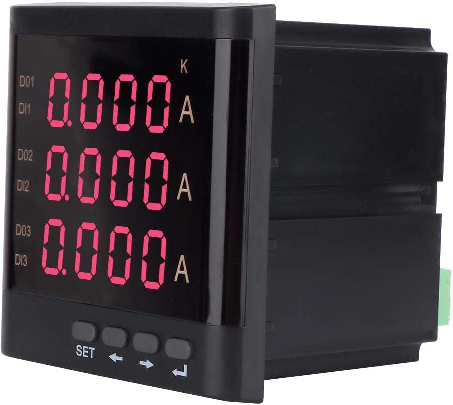 Noir ZM194-A93 91 91mm Amp/èrem/ètre Triphas/é Num/érique de Courant avec Affichage LED