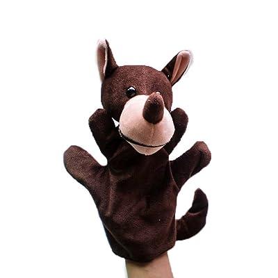 2 Piezas Juegos de Marionetas Mano Dedos Peluches Animales Figuras - Lobo: Juguetes y juegos