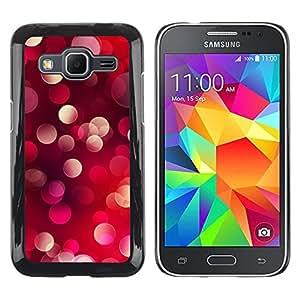 TECHCASE**Cubierta de la caja de protección la piel dura para el ** Samsung Galaxy Core Prime SM-G360 ** Bling Glitter Dots Light Red Purple Pink