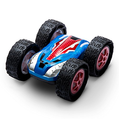 (USA Toyz RC Cars for Kids Stunt Remote Control Car w/ Off Road RC Car Tires and 2 RC Car Batteries for Fast RC Cars for Adults + Kids)