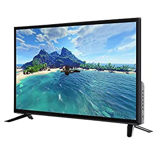 32inch TV, 32inch UHD HDR Smart LCD TV Multi-Functional WiFi Widescreen 2K Smart TV with USB/HDMI/RF/ RJ45, MPEG Noise Reduction Television with AI Voice Control, USB Blu-ray Decoding(US)
