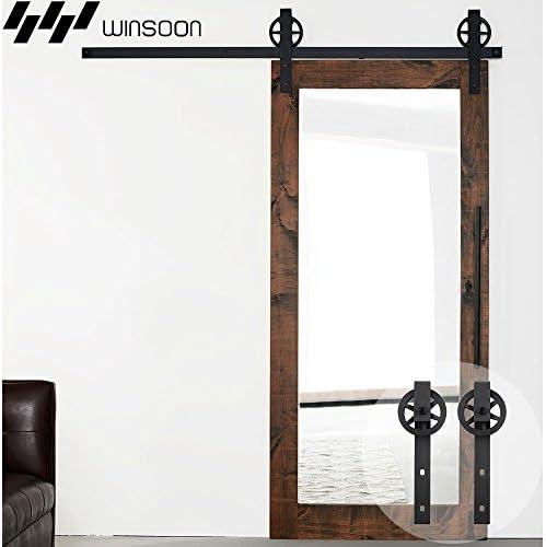 winsoon 5 ft sola puerta corrediza de granero madera Hardware ...