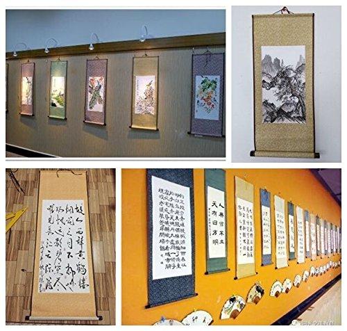 JZ014 Hmayart kakejiku Blank Mounting Hanging Wall Scroll Set for Kanji, Sumi and Chinese Calligraphy (6pcs/Set) (Scroll Size: 14.96'' x 41.34'' (38 x 105 cm)) by Hmayart (Image #6)
