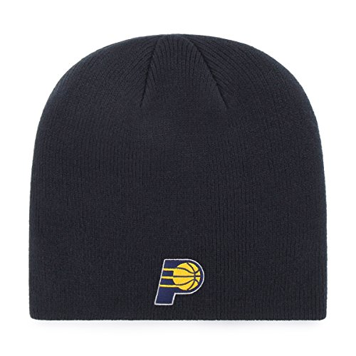 OTS NBA Indiana Pacers Beanie Knit Cap, Navy, One Size