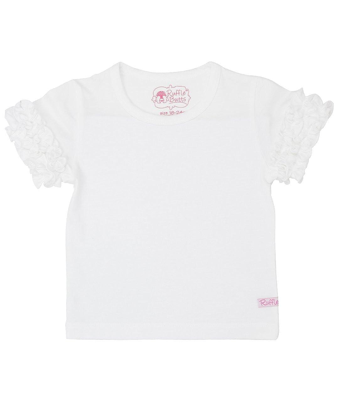 RuffleButts Baby/Toddler Girls Ruffled Short Sleeve Undershirt SSMYYXX-UNDR-SC-BABY