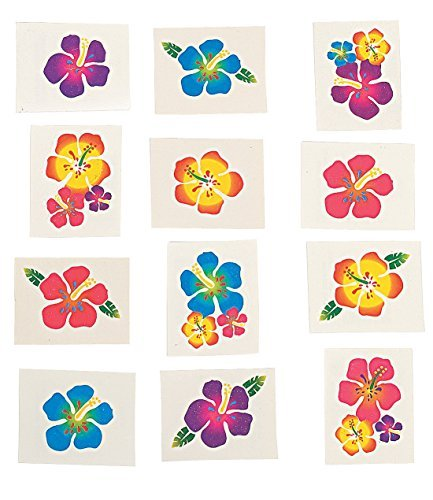 Fun-Express-Hibiscus-Glitter-Tattoos-Package-of-36