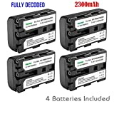 Kastar 4 X NP-FM50 InfoLithium Battery for Select Sony M Type Equivalent Camcorder/Digital Camera