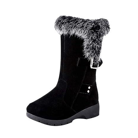 ZARLLE_Botas Botas de Mujer, Invierno Caliente Botas De Tobillo Caliente Zapatos De Invierno,Mujeres