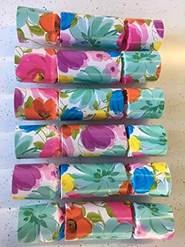 Crackers Birthday - Splash of Spring Party Cracker Favors (set of 6 favors) - colorful, floral theme party favor fun for birthdays, weddings and all party occasions and ages