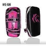 Kango Gladiator Kick Boxing Strike Curved Arm Pad MMA Focus Muay Punch Shield Mitt (SINGLE ITEM) (Magenta/Black/White)