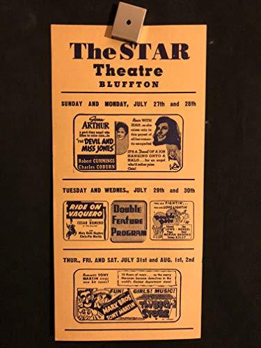 The Devil And Miss Jones, The Big Store 1941 Original Vintage US Herald Program Movie Poster, Marx Bros, Marx Brothers, Comedy, Jean Arthur