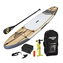 """THURSO SURF Inflatable SUP Stand Up Paddleboard 11' x 32"""" x 6"""" Includes 3 Piece Adjustable Carbon Shaft Paddle/Fin/Leash/Deck Bag/Air Pump/Travel Backpack"""