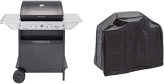 Campingaz Xpert 200 L Classic Barbacoa Gas, BBQ Gas con 2 Quemadores, 7.1kW de portencia + Landmann 0276 Grill Chef Series - Funda protectora para ...