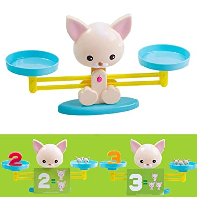 WeiJX Cool Math Game, Balance Counting Toys for Boys & Girls Fun & Educational Cat Scale Math Toy Children's Gift STEM Learning Age 3+: Home & Kitchen