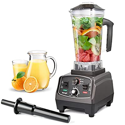 MengK 1400W Blender,Professional Industrial Kitchen Juicer Blenders for Drinks and Smoothies with 67oz BPA-Free Pitcher,Commercial Heavy Duty Blender Food Processor Combo for Soups,Nuts & Batter