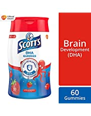 SCOTT's DHA Chewable Gummies, Fish Oil Omega 3 Children Supplement for Immunity and Brain Development Support, 60ct