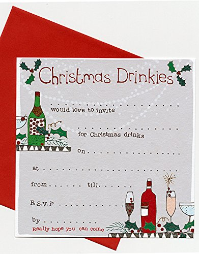 Christmas Drinks Party Invitations by Molly Mae (CSP01)