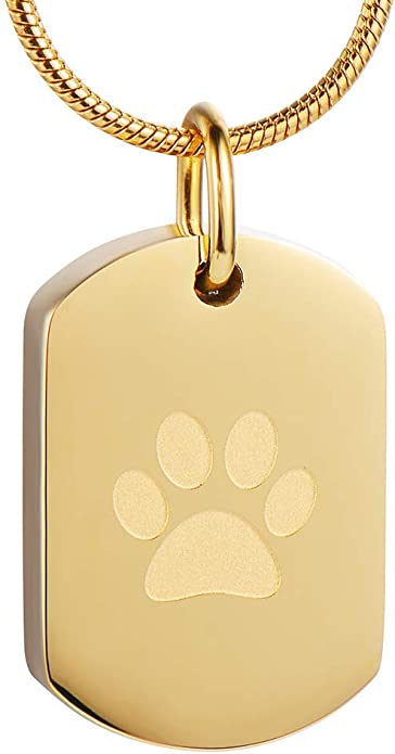 Pet Memorial Jewelry Urn Pendant Cat Heart with Paw Animal Ashes Keepsake Paw Print Pet Memorial Cremation Jewelry for Dog