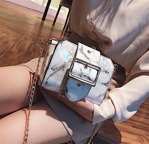 Pattern Shoulder Bag White Diagonal Black Bao Handbag Trend Fashion Party Woman Bag Small Bag Personality Marble Women Bag Simple 4vxxqFX