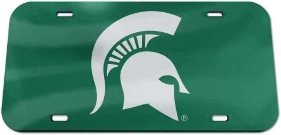 Michigan State Spartans Logo Crystal Mirror License Plate