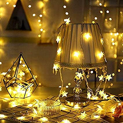 Amazon.com : Jadeke String Lights Star Fairy Lights Battery Operated ...