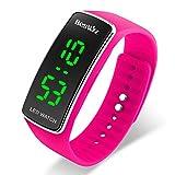 Unisex Digital Kids Digital Watches Waterproof Outdoor Sports LED Wristwatch for Boys Girls Kids Teenager Pink
