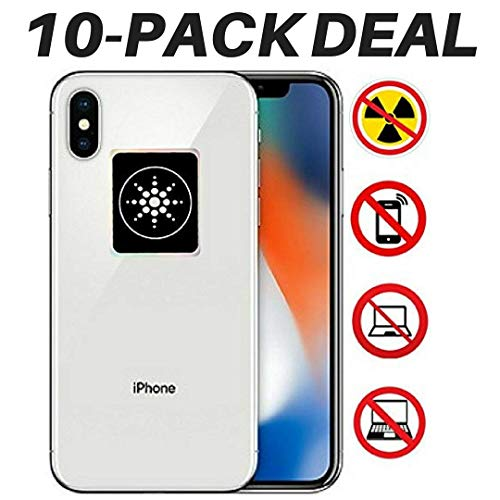 RADIATION PROTECTION FOR CELLPHONES/LAPTOP - ANTI EMF/EMR RADIATION STICKER - Radiation Shield Blocker - Remove Electronic Technologies Radiation - 10 PACK BUNDLE DEAL!