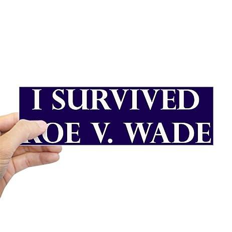 Cafepress i survived roe v wade blue bumper sticker 10x3 rectangle