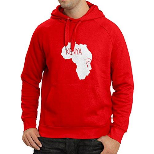 Longues Kenya Blanc Sweat Capuche Rouge N4199h À Sauvegarder Manches U4nwZvq