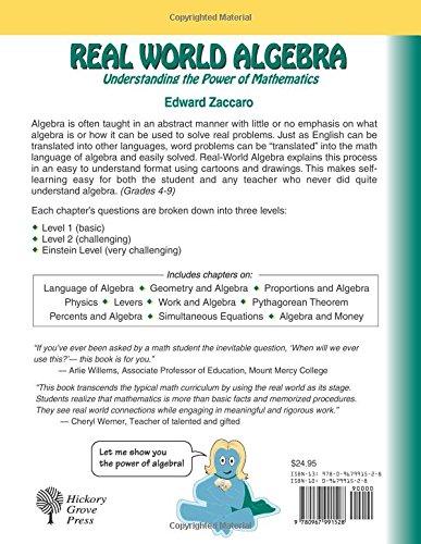 Real World Algebra: Edward Zaccaro: 9780967991528: Amazon.com: Books