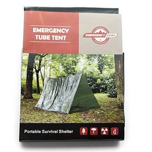 Emergency Zone Green Survival 2 Person Tube Tent Single Pack