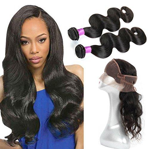 FASHION-QUEEN-Brazilian-Virgin-Human-hair-Bundles-2pcs-360-Lace-Frontal-with-Bundles-Brazilian-Body-Wave-with-Frontal-Closure-22x4x2