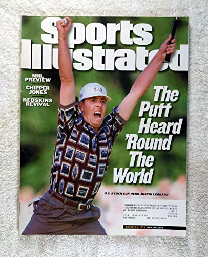 Justin Leonard - U.S. Ryder Cup Hero - The Putt Heard 'Round the World - Sports Illustrated - October 4, 1999 - The Country Club, Brookline, Massachusetts - Golf - SI (Cup Justin Leonard Ryder)