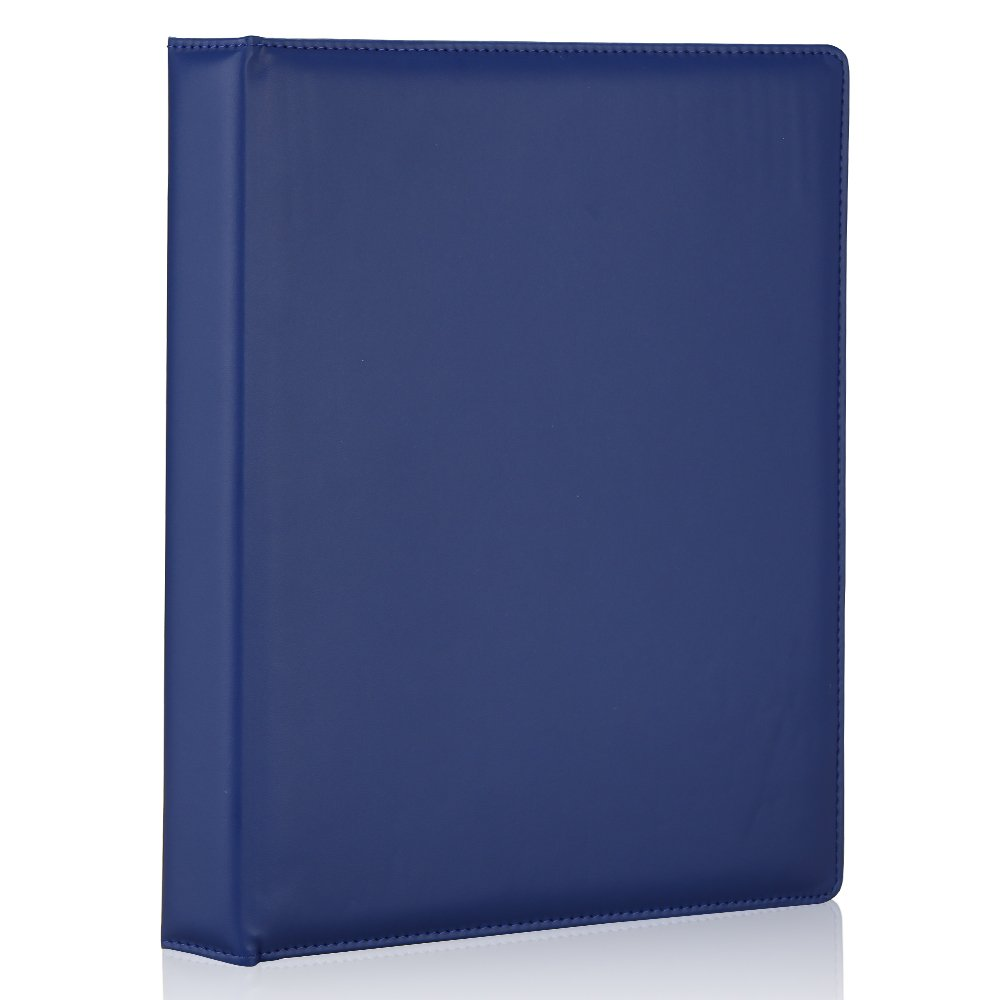 KINGFOM Upscare Sewn Waterproof PU Leather Note Binder Portfolio Holder Case White, A6