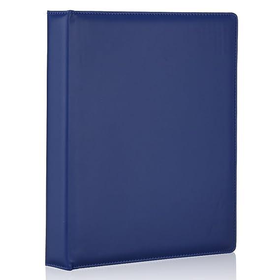LiLan Archivador 3 anillas,archivadores con anillas A4, imitación piel (azul oscuro): Amazon.es: Oficina y papelería