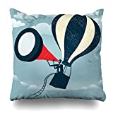 "good looking luxury patio design ideas Ahawoso Throw Pillow Cover Vintage Abstract Businessman Gets Best View All Time Retro Edge Styled Fantastic Idea to Use His Decorative Pillowcase Square Size 18""x 18"" Inch Home Decor Cushion Case"