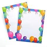 Balloon Border Stationery Printer Paper 25 Sheets