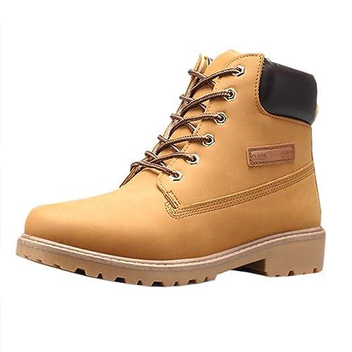 Uirend Zapatos Botas Hombre - Zapatos Casuales de Hombres Shoes Botines con Cordones de Hombre Martin Botas de Cuero: Amazon.es: Zapatos y complementos