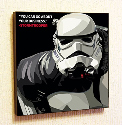 Stormtrooper Star-Wars Super Hero Motivational Quotes Wall Decals Pop Art Gifts Portrait Framed Famous Paintings on Acrylic Canvas Poster Prints Artwork Geek (10x10