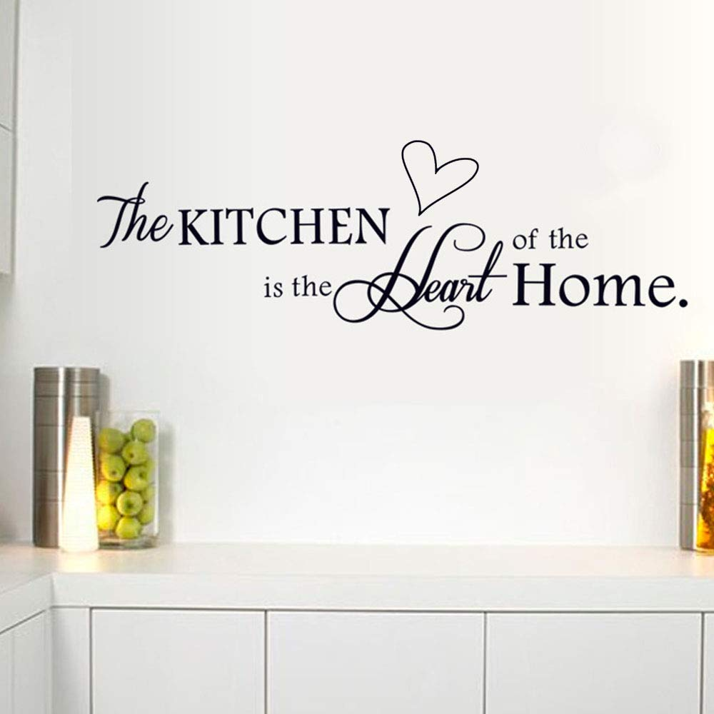 Vmile 'The Kitchen' Quote Wall Sticker Removable PVC Decoration Dining Room Wall Saying Home Decal Vinyl Decor