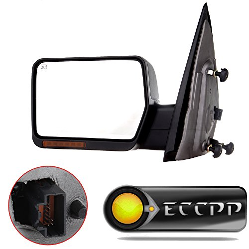 (Driver Side View Mirror Power Heated LED Turn Signal Lights Replacement fit for 2004 2005 2006 Ford F150 Truck Left Towing)