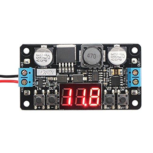 DROK–Converter Buck Adjustable LM2596With 12V Digital Voltmeter...