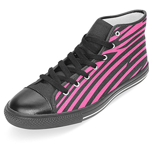 Canvas Top Black High Sneakers Trainers Fashion Shoes Casual InterestPrint Classic Red Womens qw7Fg7X