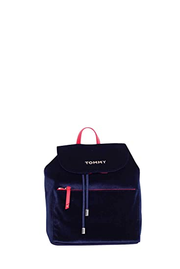 574d58f3 Tommy Hilfiger Cool Velvet Backpack One Size Tommy Navy: Amazon.co.uk:  Clothing