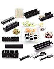M-Aimee 12 Pieces DIY Sushi Making Kit with 4 Sushi Shape Molds and 1 Bamboo Sushi Mat-Roller
