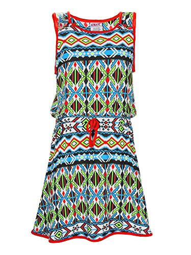 S.W.A.K. Girls Printed Sundress Size 14/16- Red