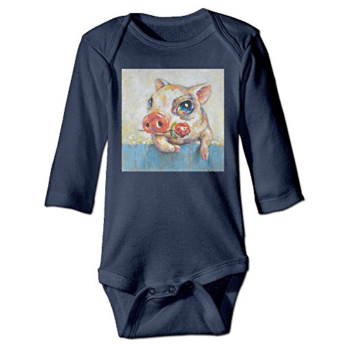 ROKMA132 Martoo Art Popular Pig Baby Long Sleeves Climbing Clothes Unisex Sets Size 18 Months Navy - Church Bookends