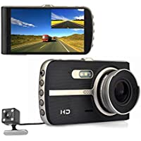 4.0 inch Car Camera Metal Rearview Dual Lens DVR Dash Video Recorder front and rear WDR Dash Cam Night Vision back Registrator Wide Angle