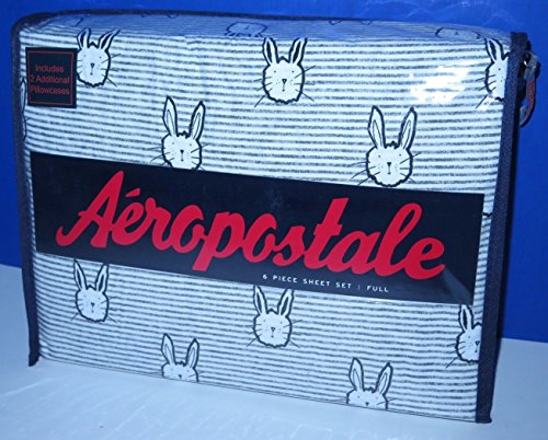 aeropostale-gray-bunnies-full-sheet-set